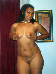 Almost naked black wives and their big..