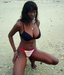 ebony naked street